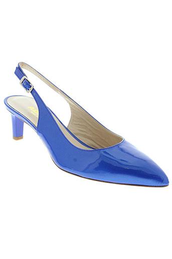 adrien sandales et nu et pieds femme de couleur bleu