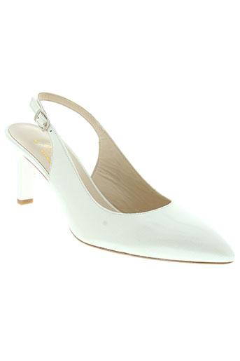 python sandales et nu et pieds femme de couleur blanc