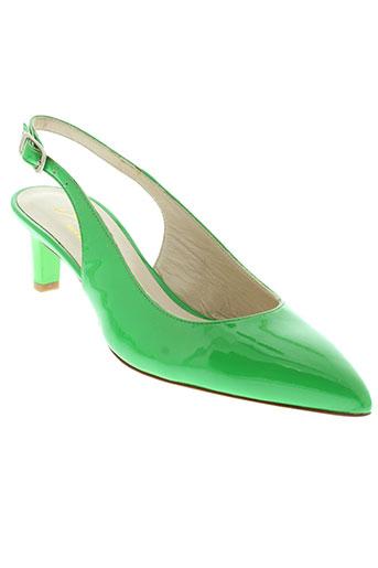 adrien sandales et nu et pieds femme de couleur vert