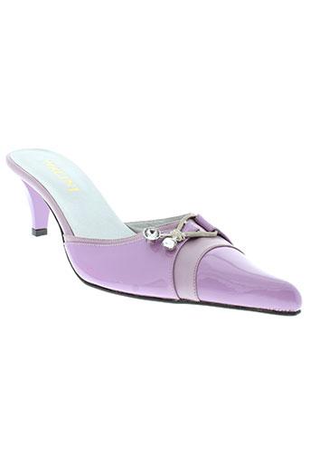 nalini mules et sabots femme de couleur violet