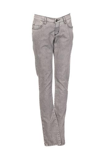 ikks jeans fille de couleur gris