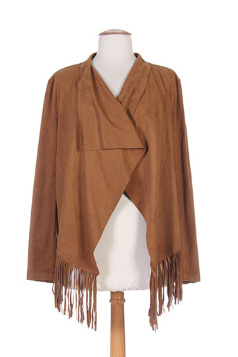 only vestes femme de couleur marron