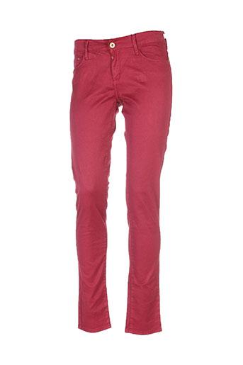 tiffosi pantalons et decontractes femme de couleur rouge
