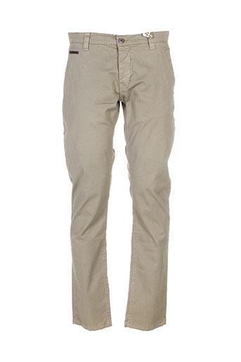 biaggio pantalons homme de couleur vert