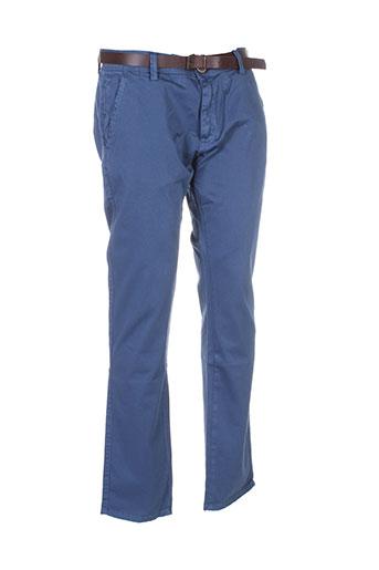 jeel pantalons homme de couleur bleu