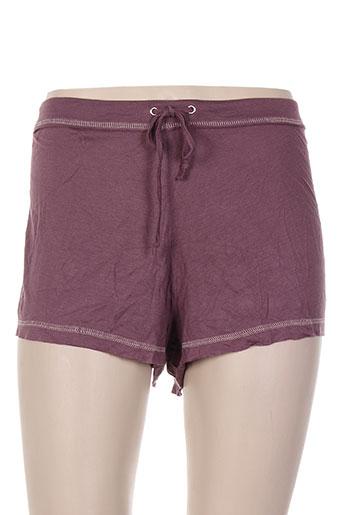 ikks pyjashorts femme de couleur violet