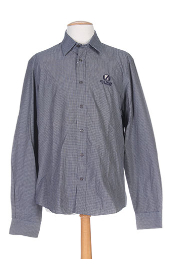 grand chelem chemises homme de couleur gris