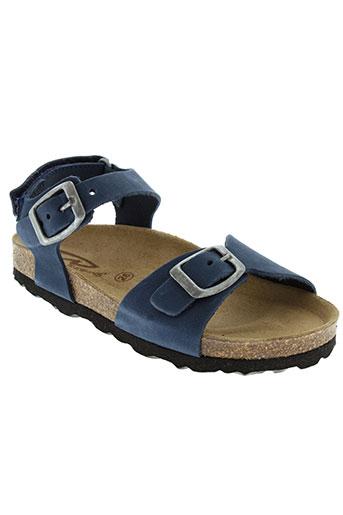 reqins sandales et nu et pieds enfant de couleur bleu