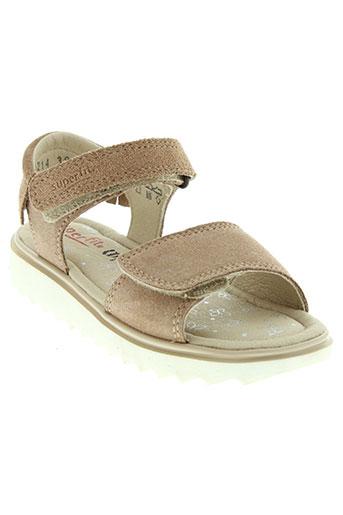 super et fit sandales et nu et pieds fille de couleur beige