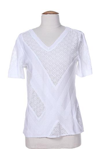tricot chic t et shirts et tops femme de couleur blanc