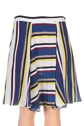 tricot chic jupes femme de couleur bleu
