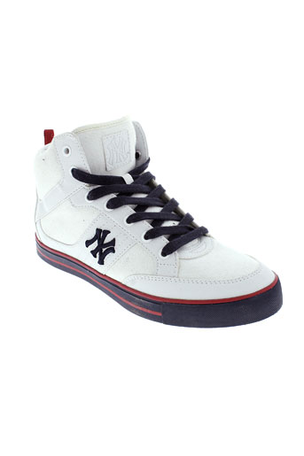 new york yankees chaussures homme de couleur blanc