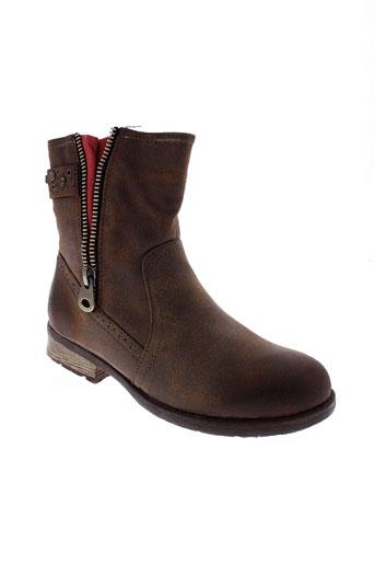 c et m et paris boots femme de couleur marron