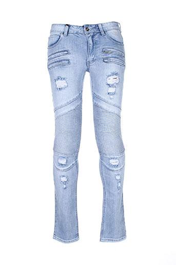 black kaviar jeans homme de couleur bleu