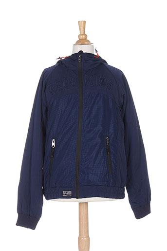 redskins manteaux garçon de couleur bleu