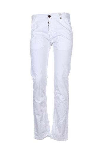 deeluxe pantalons et decontractes femme de couleur blanc