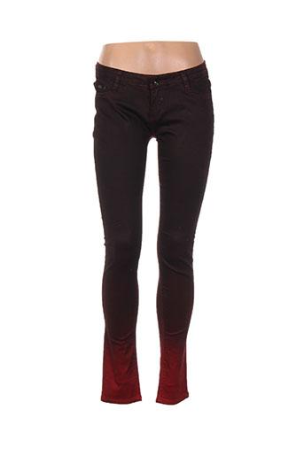 goldenim jeans femme de couleur rouge