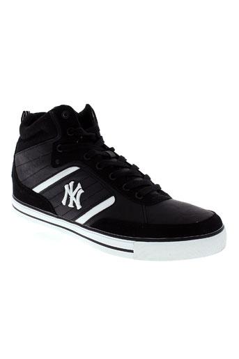 new york yankees chaussures homme de couleur noir