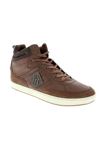 new york yankees chaussures homme de couleur marron