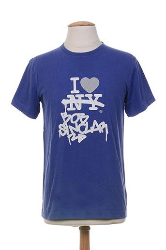 T-shirt manches courtes bleu BOB SINCLAR pour homme