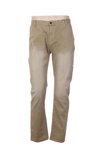bread and buttons pantalons homme de couleur beige
