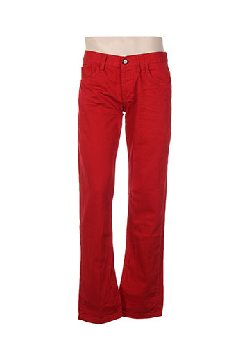 kingz pantalons homme de couleur rouge