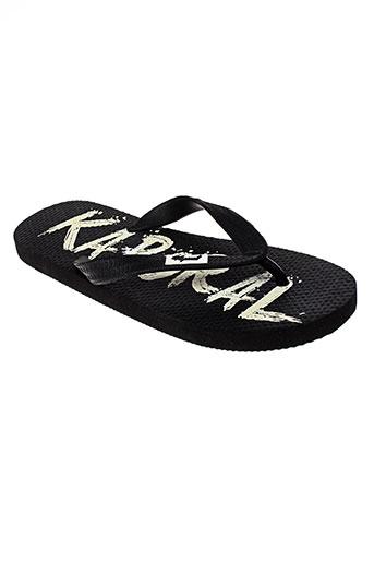 kaporal chaussures femme de couleur noir