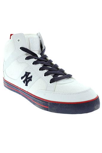 new et york et yankees baskets homme de couleur blanc