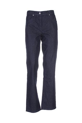 jensen jeans et coupe et droite femme de couleur bleu