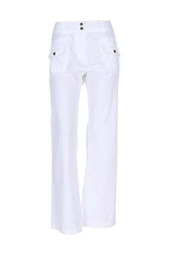 soyaconcept pantalons et decontractes femme de couleur blanc