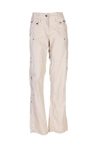 fleur et de et sel pantalons et decontractes femme de couleur beige