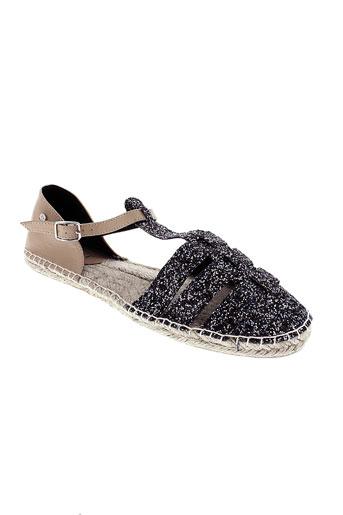 elle sandales et nu et pieds femme de couleur noir