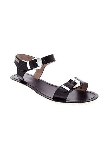 les et tropeziennes sandales et nu et pieds femme de couleur noir