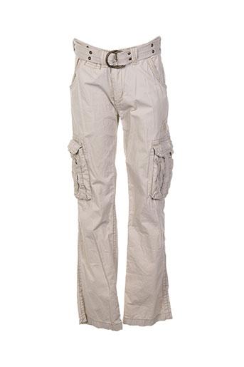 kaporal pantalons garçon de couleur beige
