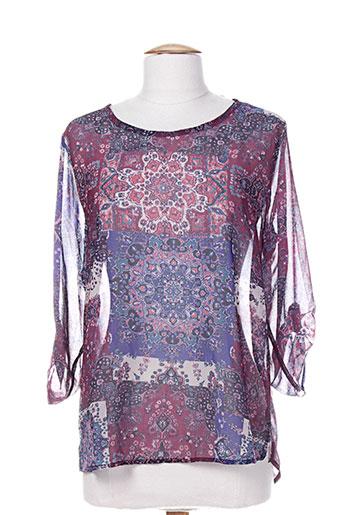 faruk chemises femme de couleur violet