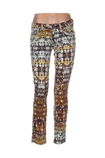 douyoudou pantalons femme de couleur marron