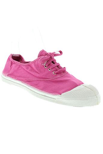 bensimon chaussures femme de couleur rose