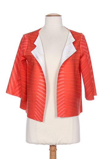 animapop vestes femme de couleur orange