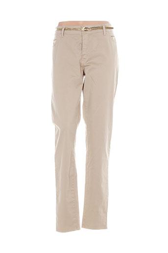 cowest pantalons femme de couleur beige