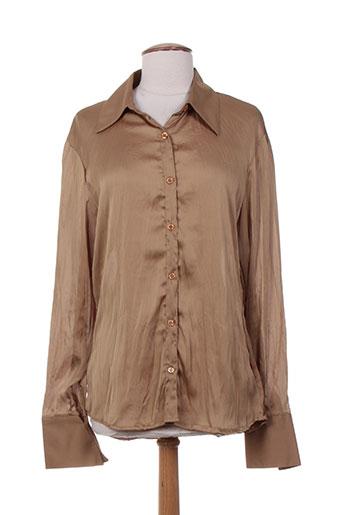 friponne chemises femme de couleur marron