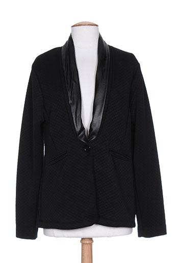 coquelicot vestes femme de couleur noir