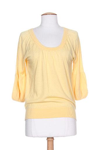 zlk pulls femme de couleur jaune