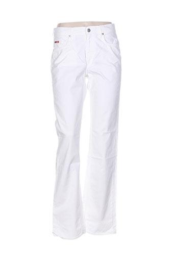 lee cooper pantalons femme de couleur blanc