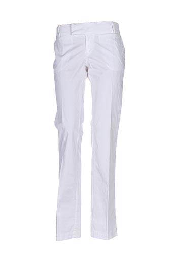 salsa pantalons femme de couleur blanc