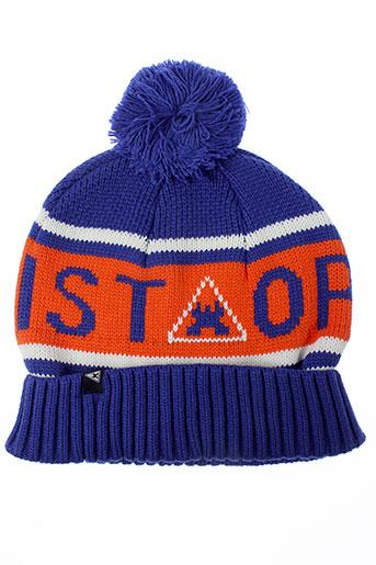 gaastra chapeaux et bonnets garcon de couleur bleu