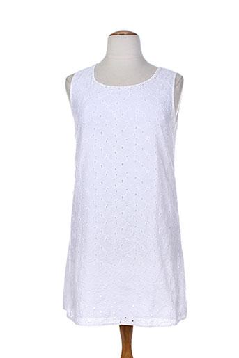 agathe et et et louise robes et courtes femme de couleur blanc