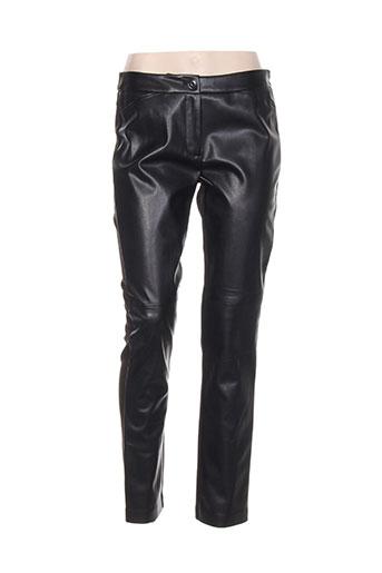 lebek pantalons femme de couleur noir