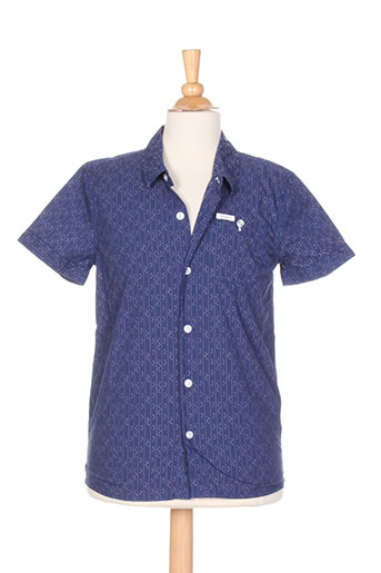 pepe jeans chemises garçon de couleur bleu