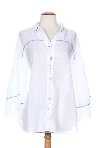 elisa cavaletti chemises femme de couleur blanc