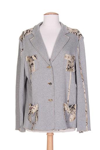 coccapani vestes femme de couleur gris